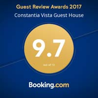 Booking.com award for Constantia Vista