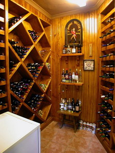 Constantia Vista - Cape Town - South Africa - well stocked wine cellar - click for larger image